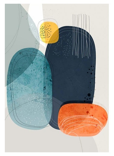 MarkaEv Canvas Modern Tablo 0176 Renkli